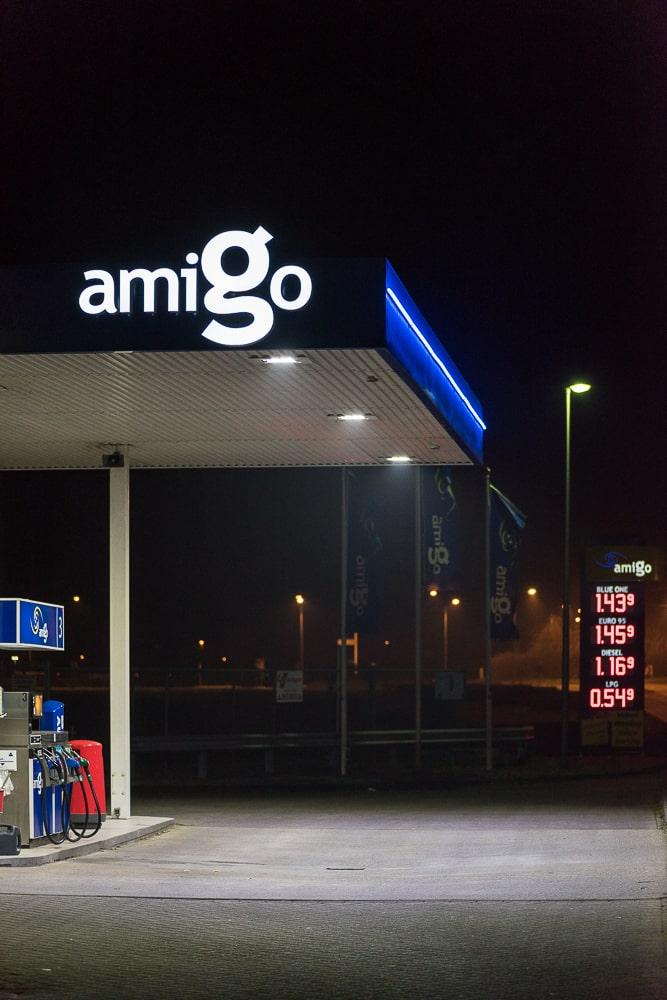 Amigo Tankstation Logo overkapping