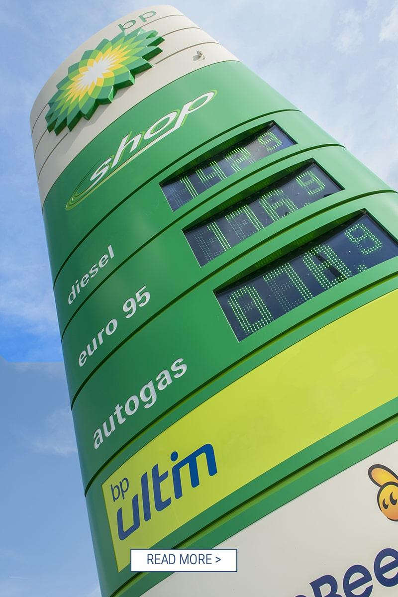 BP totem Led Price Displays green